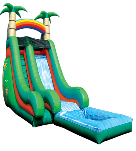 18' Super Splash Down Water Slide Tropical