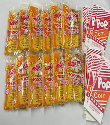 Popcorn Extra Servings With Bags (50)