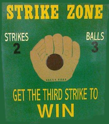 Strike Zone Carnival Game