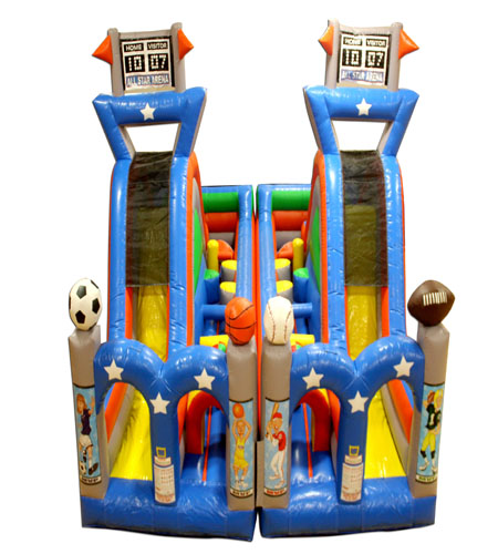 Turbo Rush Sports Arena Obstacle Course Both Pieces