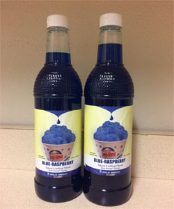 Blue Raspberry Snow Cone Syrup (50) with NO CUPS