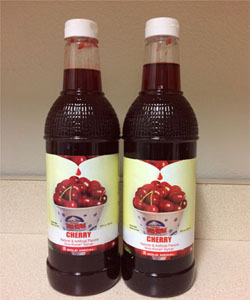 Wild Cherry Snow Cone Syrup (50) with NO CUPS