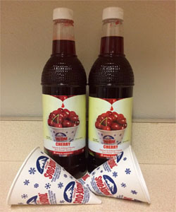 Wild Cherry Snow Cone Syrup and Cups (50)